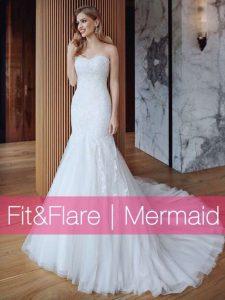 Fit&Flare Meerjungfrauen Mermaid Brautkleider Brautmode Horn München