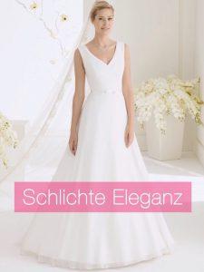 Schlichte Eleganz Brautkleider Brautmode Horn München